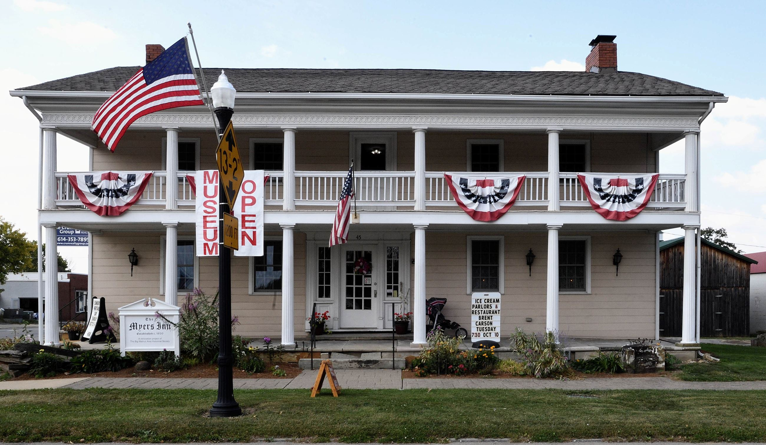 Exterior view of the Myers Inn Museum